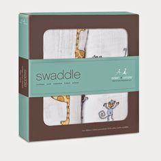 Fraldas : Aden + Anais - Swaddle pack 2 - Jungle Jam - Fraldas 100% musselina de algodão