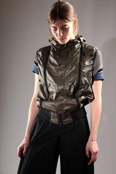 FINAL HOME - Unisex Blouson-Like Waistcoat In Polyester Canvas :: Ivo Milan