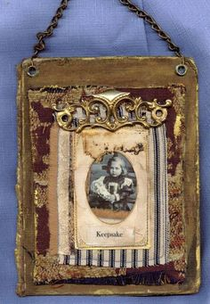 jeanette janson....assemblage using vintage book cover