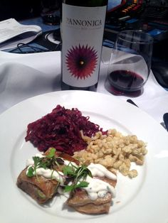 Relish Catering & Events shared their recipes for Dill & Porcini Mushroom Spaetzel with Braised Pork Shoulder and Red Cabbage topped with Chive