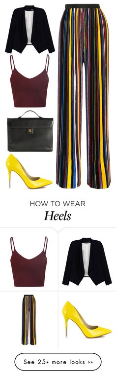 """What to Wear: Work #8"" by hippizza on Polyvore featuring Balmain, Alice + Olivia, Glamorous, BCBGeneration and Chanel"
