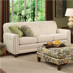 Superior Smith Brothers 392 Upholstered Sofa With Tufted Back   Miller Brothers  Furniture   Sofa West Central