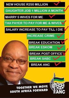 Zuma Report card for 2015 Job 1, Cape Town South Africa, Post Office, Live, Politics, Education, Words, Stupid, Landscape