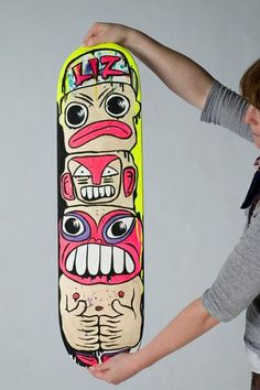 "Skateboard Deck ""Stake"" Wanddekoration // Skateboard wall-decoration by Liz Universe via DaWanda.com"