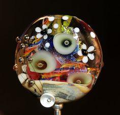 rainbow tab bead with dichroic handmade glass von CorneliaLentze, $29.00