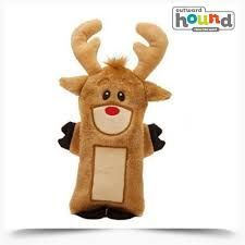 Outward Hound Kyjen Bottle Buddies Reindeer Holiday Dog Toy, Reindeer, Brown: Fun plush character with a recycled water bottle inside. Dogs love this cute toy, and the crinkle of the replaceable water bottle provides hours of fun. Bottle Buddy, Dogs Online, Felt Dogs, Christmas Dog, Dog Toys, Animal Rescue, Reindeer, Your Pet, Dog Lovers