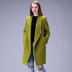 YuooMuoo Дизайн Бренда Зимнее Пальто Женщин Теплый Хлопок-проложенный Шерстяное Пальто Длинные женские Кашемировые Пальто Европейская Мода Куртка пиджаки