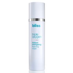 Bliss Triple Oxygen Instant Energizing Foaming Mask protects, hydrates and brightens skin. Foaming Face Mask, Moisturizing Face Mask, Green Tea Facial, Ageless Beauty, Skin Brightening, Flawless Skin, Facial Masks, Face Wash, Your Skin