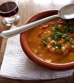 Locro Criollo de Argentina - Argentine Locro: A hearty, satisfying stew that's perfect for a cold winter's day Gourmet Recipes, Soup Recipes, Cooking Recipes, Healthy Recipes, Cooking Ideas, Empanadas, Argentine Recipes, Bolivian Food, Bolivian Recipes