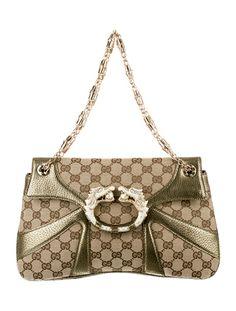 be68a4eed52f Tom Ford for Gucci Shoulder Bag Gucci Shoulder Bag, Wall Pockets, Gold  Leather,