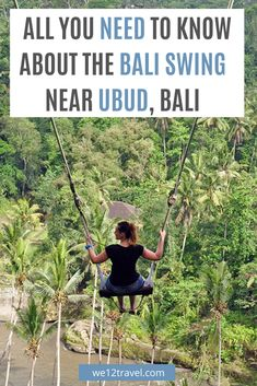 All you need to know about The Bali Swing near Ubud in Indonesia. Including the best tips on how to get there, where to stay and what else you should know before you go! Bali Travel, India Travel, Japan Travel, Travel Guides, Travel Tips, Travel Articles, Bali With Kids, Ubud Indonesia, Southeast Asia