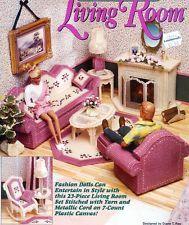 plastic canvas patterns for barbie furniture | fashion barbie doll dream home living room furniture plastic canvas
