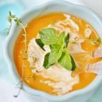 Slow Cooker Crockpot Sweet Potato and Tomato Soup with Cream Cheese