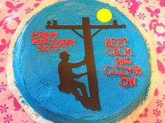 Electric lineman cookie cake