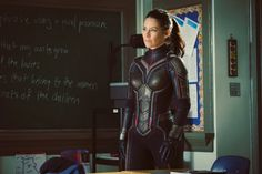 Evangeline Lilly shares first photo in Wasp suit for Ant-man and the Wasp