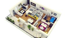 4-Modern-Two-Bedroom-Apartment-with-Balcony.jpg (1240×698)