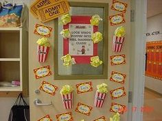 Hollywood themed door to the classroom