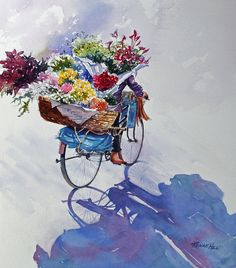 China Florist A mobile flower shop riding through the streets of China Renae Hill Fine Art