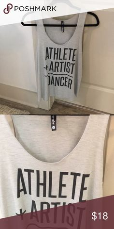 GREAT CONDITION Gray Active/Casual wear Tank Top! This tank top by Sugar and Bruno is my favorite athletic top, however it's just too big on me! Super soft, so cute on!! Size L. (Athlete-Artist-Dancer) sugar and bruno Tops Tank Tops