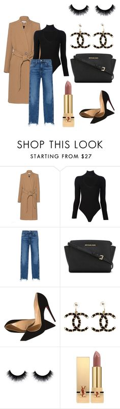 """""""Nude"""" by hylls ❤ liked on Polyvore featuring IRO, Cushnie Et Ochs, 3x1, MICHAEL Michael Kors, Christian Louboutin, Chanel and Yves Saint Laurent"""