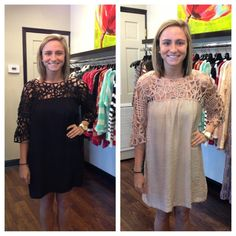 Black and Taupe dress