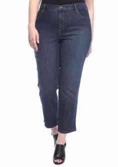 Gloria Vanderbilt Scottsdale Wash Plus Size Amanda 5 Pocket Jeans Short  Average Inseams