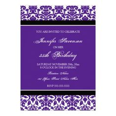 50th birthday party purple silver damask butterfly invitation 50th birthday party purple silver damask butterfly invitation pinterest 50 birthday parties damasks and butterfly invitations filmwisefo