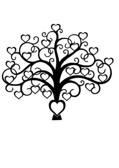 Family Tree Heart SVG File, Quote Cutting File, The Silhouette File, Cricut … - Modern Family Tree Quotes, Free Family Tree, Family Tree Wall, Family Trees, Tree Templates, Printable Templates, Free Printable, Tree Svg, Christmas Tree Crafts