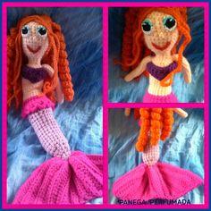 Mais uma encomenda feita, para presentear uma linda menininha. Sereia em crochê amigurumi.