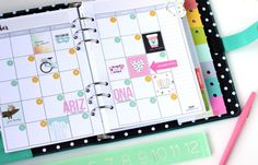 Planner set up by design team member Nancy Damiano