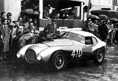 "Marzotto's Ferrari 212 Export ""Uovo"" by Carrozzeria Fontana raced in the 1951 Mille Miglia. The coachwork is said to have horrified Enzo Ferrari."