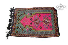 Vintage Oriental Handwoven Turkish Kilim by AnatoliaCollection