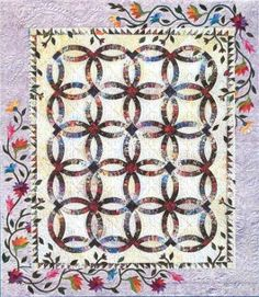 A Garden for My Wedding Ring, Quiltworx.com, Made by the Puyallup Valley Quilters.
