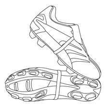 Soccer Shoes Coloring Page There Are Many Free Soccer Shoes