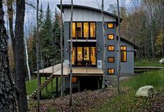 Contemporary Weekend House Sugar Hill NH contemporary exterior