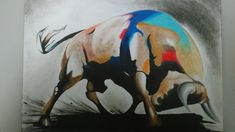 Bull art por victor4213 - Animales | Dibujando.net