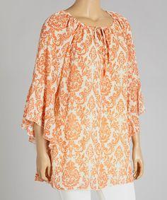 4ba950ed971 Orange Floral Tunic - Plus  zulily  zulilyfinds  fashion  tangerine  summer