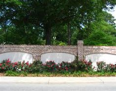 stucco brick fence - Bing Images