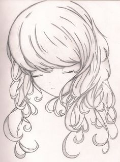 Curly hair dont care anime girl vinyl sticker at kawaiikrissy curly hair by 4ever artistiantart on deviantart oh ccuart Choice Image