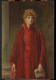 """Portia (Kate Dolan),1886. Oil on canvas. Metropolitan Museum of Art.Sir John Everett Millais (English, 1829–1896). Actress Dolan asPortia in Shakespeare's """"The Merchant of Venice.""""Millais is best known as one of the artists who founded thePre-RaphaeliteBrotherhood in 1848. As a result of what have been called his """"concessions to the sweetness of Victorian taste,"""" he was made as associate of the Royal Academy in 1853. By the time he painted Portia, he worked in an academic-realist…"""