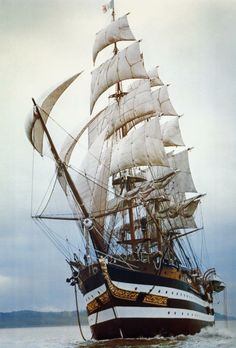 "theravingcelt: "" jade-cooper: "" The Amerigo Vespuccia, a training ship in the Italian Navy, named after the explorer and cartographer Amerigo Vespucci Its home port is La Spezia, Liguria. "" Apparently whilst sailing in the Mediterranean. Moby Dick, Bateau Pirate, Old Sailing Ships, Ship Drawing, Ship Of The Line, Wooden Ship, Sail Away, Ship Art, Model Ships"