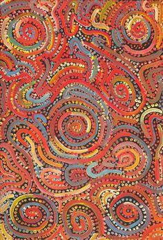 Mina Mina Jukurrpa (Mina Mina Dreaming) -  Ngalyipi by Kirsty Anne Napanangka Martin-Brown