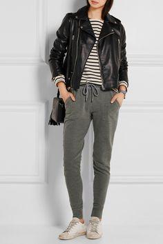 Splendid   Mesa cotton-terry track pants   NET-A-PORTER.COM