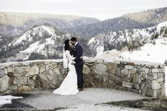 Squaw Valley Lake Tahoe Winter Wedding in the Mountains with Sweeping Views.