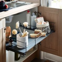 Pebre Matt Dark grey Universal Pull out storage, - B&Q for all your home and garden supplies and advice on all the latest DIY trends Diy Kitchen, Kitchen Decor, Kitchen Design, Kitchen Ideas, Kitchen Inspiration, Home Organisation, Kitchen Organization, Cupboard Storage, Kitchen Storage