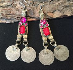 Coins Earring,Old Vintage Coins-Antique earring, collectors Earring,vintage antique Coins,Coin Earring..... by JewelsofNomads on Etsy