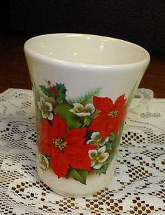 Crowne Oakes Designs Poinsettia Holiday Christmas Tumbler