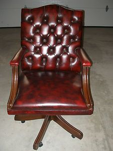 vintage leather adjustable office chair created in norway in 1980 antique leather office chair