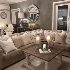 Most Inspirational: 80 Stunning Small Living Room Decor Ideas For Your Apartment. 80 Stunning Small Living Room Decor Ideas For Your Apartment living room decor Check out the image by visiting the link. Beige Living Rooms, Small Living Rooms, New Living Room, Living Room Interior, Living Room Designs, Living Room Decor, Beige Room, Beige Couch, Brown Couch