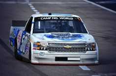 The #50 truck at practice today! Proud to be a sponsor of this truck in support of linemen! @MAKEMotorsports
